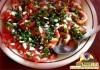 Salade marocaine aux poivron verts et tomates.