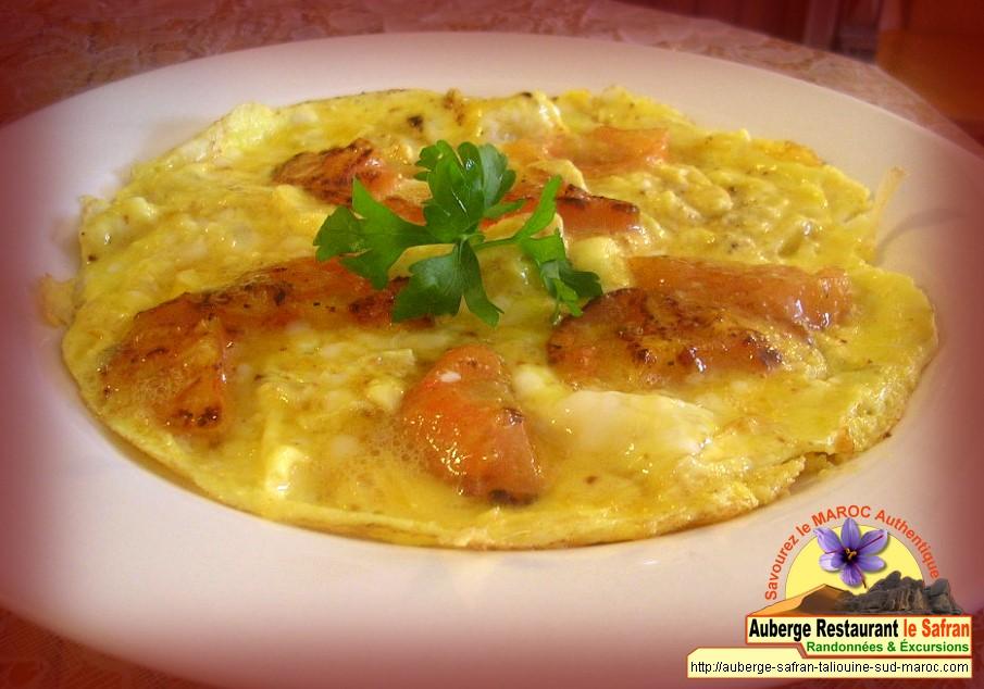 Omelette nature au safran