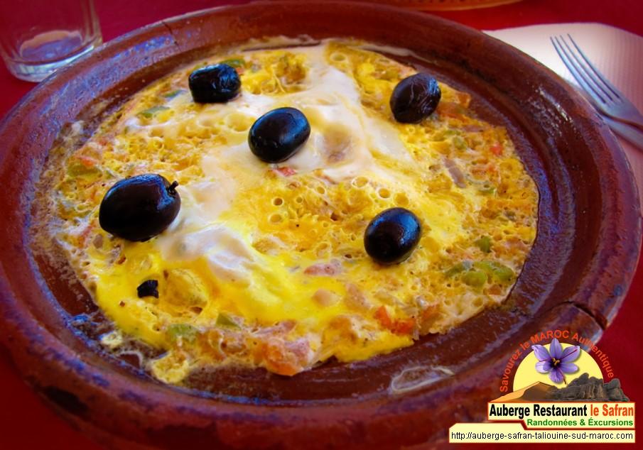 Tagine omlette + sauce safran