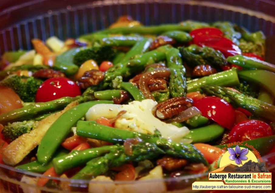 Jardinière de légumes au safran