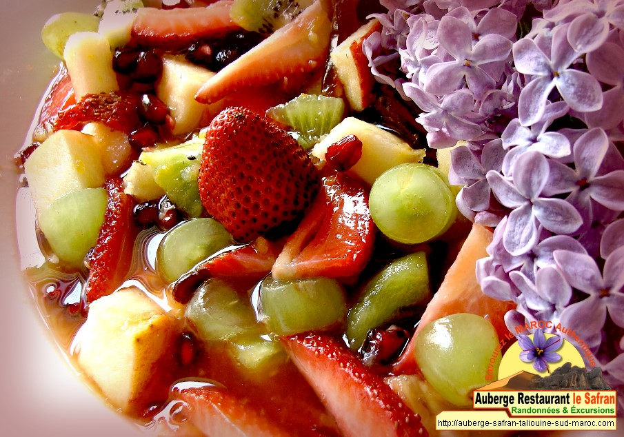 Salade de fruits au jus d'orange et safran
