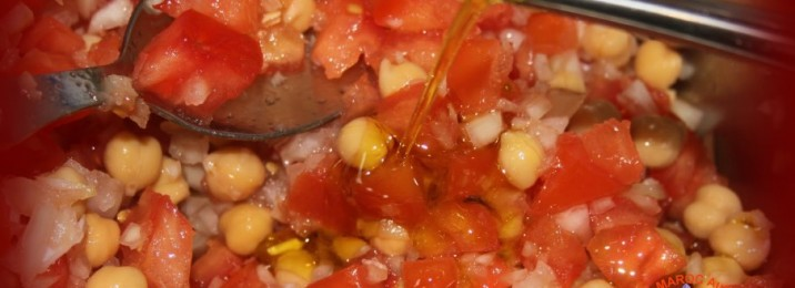 Salade marocaine à huile d'olive et safran