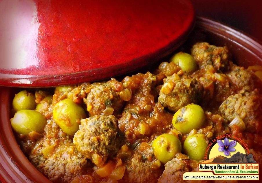 Tagine de viande hachée + sauce safranée